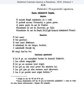 Sama M-rii Coșula 1742